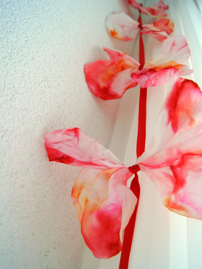 Schmetterling aus Taschentücher 3