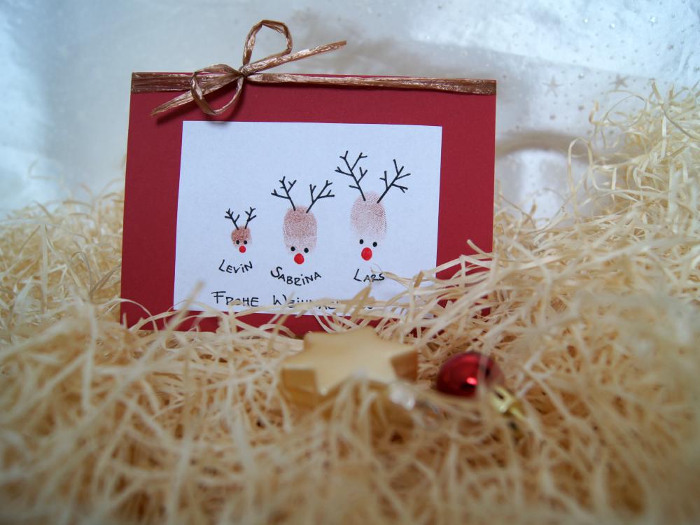 Weihnachtskarte Rentiere