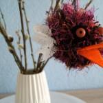 Lustige Wuschel-Vögel aus Pompons