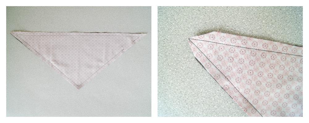 Tutorial: einfaches Dreieckstuch fürs Baby nähen. Eignet sich super als Spucktuch oder Lätzchen.