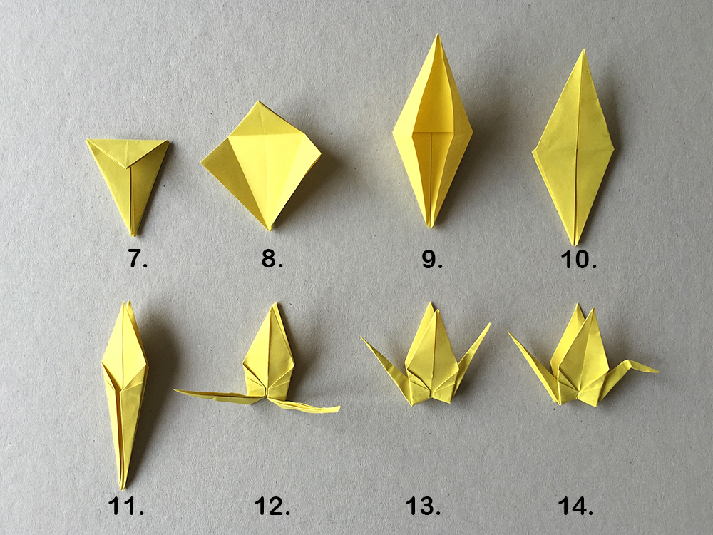 Origami Kranich Mobile - Fantasiewerk