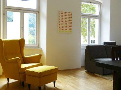 DIY Leinwandgestaltung mit Acryl und Klebeband | www.fantasiewerk.ch