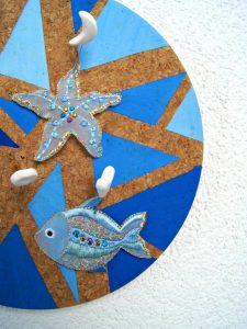 DIY Anleitung für die Pinnwand aus Kork mit Pins aus FIMO. | von Fantasiewerk