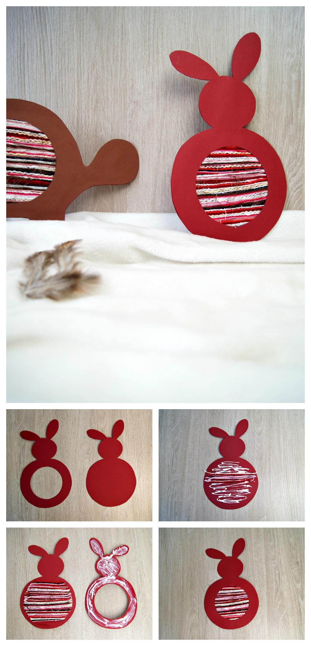 osterhase als fadenbild eine schneide bung f r kinder. Black Bedroom Furniture Sets. Home Design Ideas