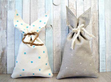 Nähanleitung für eine Tasche mit Hasenohren zu Ostern. | von Fantasiewerk