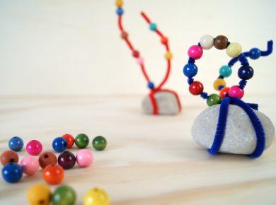 Steinskulptur mit Kleinkindern basteln. Wie die Kreativitätsförderung das Selbstvertrauen der Kinder stärkt. | von Fantasiewerk