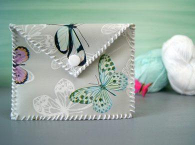 Portemonnaie aus Wachstuch selbermachen. DIY Anleitung von Fantasiewerk.
