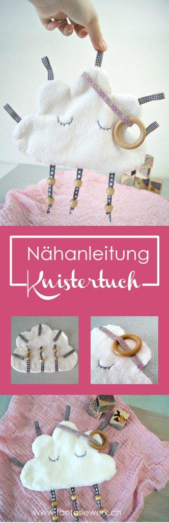 Knistertuch Wolke für Babys nähen - Anleitung und Schnittvorlage | von Fantasiewerk