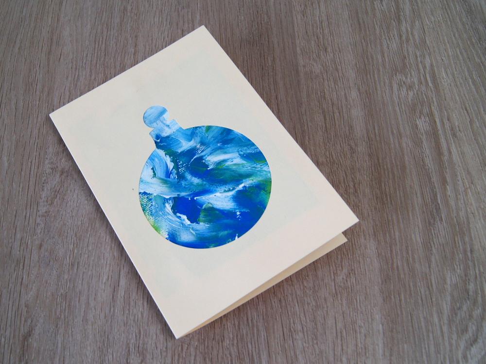 Weihnachtskarten Malen.Weihnachtskarte Mit Kleinkindern Gestalten Malen Mit Fingerfarben