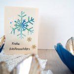 Weihnachtskarten mit Kleinkindern gestalten (Passepartout)