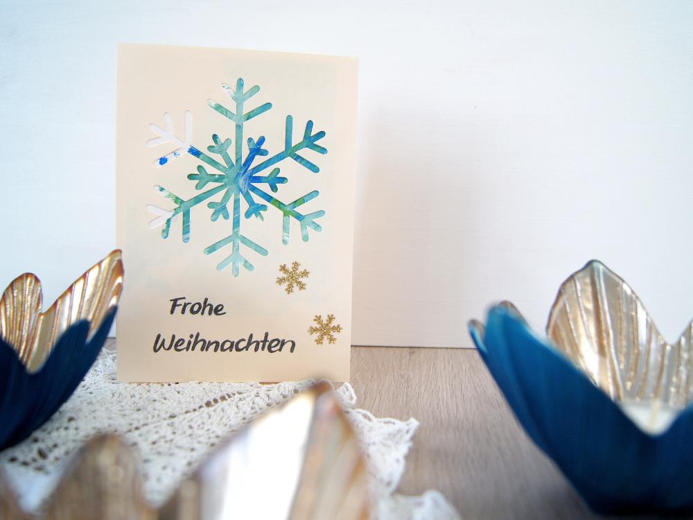 Weihnachtskarte mit Kleinkindern gestalten - Malen mit Fingerfarben als Geschenk zu Weihnachten | von Fantasiewerk