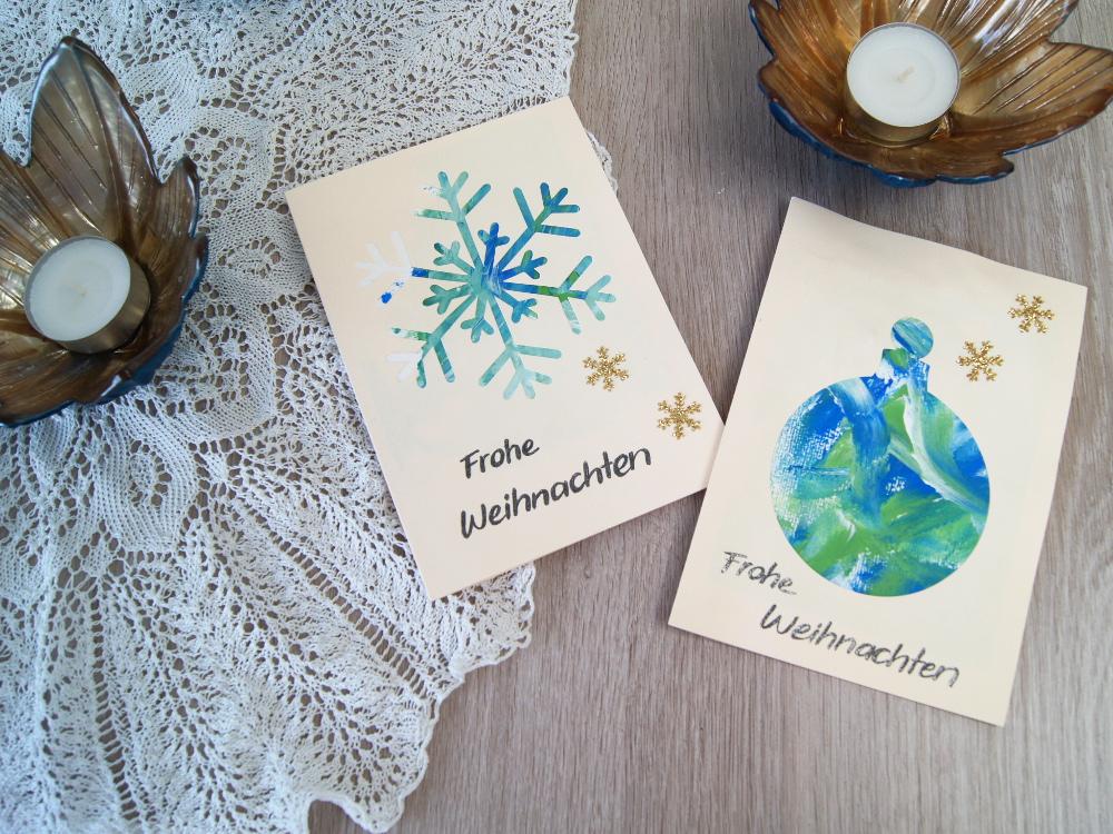 Weihnachtskarten Basteln Mit Kleinkindern.Weihnachtskarten Mit Kleinkindern Gestalten Passepartout