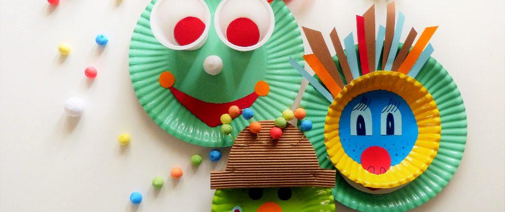 Easypeasy-DIY: bunte Clowngesichter