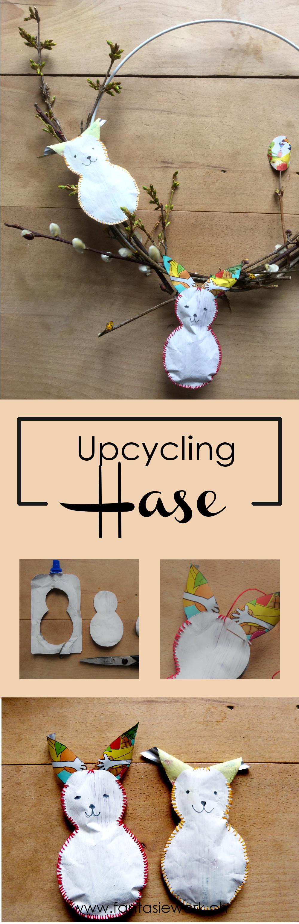 Upcycling - Projekt: Wie aus einem Quetschbeutel ein Osterhase wird #ostern #bastelnmitkindern I www.fantasiewerk.ch