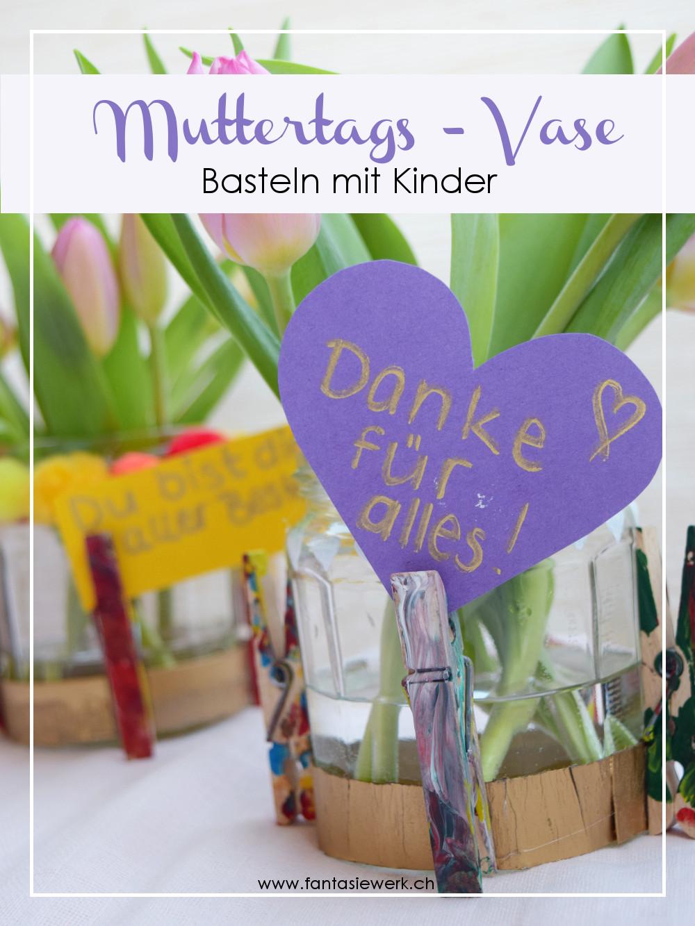 Vase Basteln Für Den Muttertag Fantasiewerk