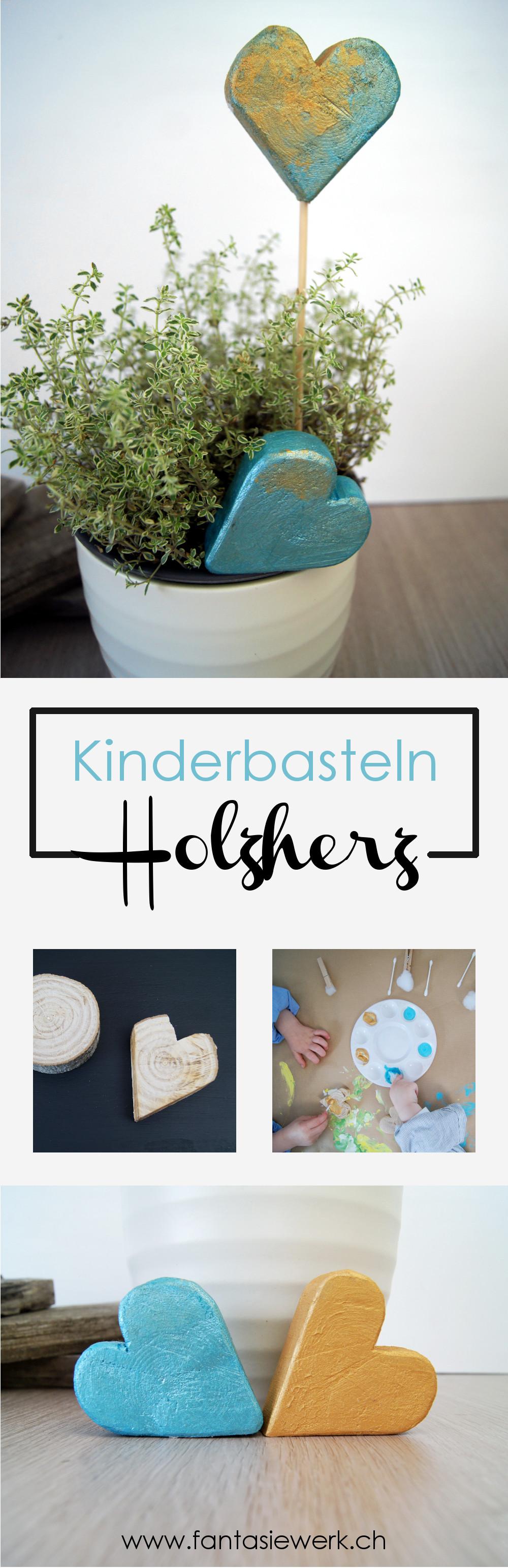 Herz aus Holz sägen und mit Kindern bemalen | Anleitung für ein kreatives Eltern Kind Projekt | von Fantasiewerk #bastelnmitkindern