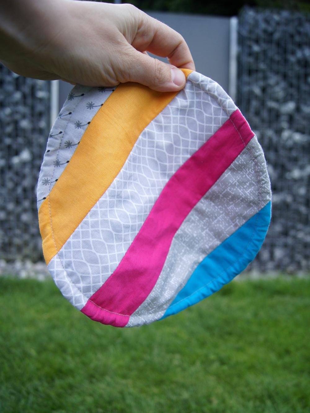 Näh - Anleitung inkl. kostenloser download | Frisbee für Kinder als Spiel selbermachen | von fantasiewerk