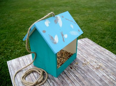 Anleitung: Ein Vogelhaus aus Holz selbermachen | Basteln und werken mit Kindern | von Fantasiewerk