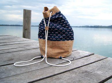 Seesack nähen - Anleitung und viele Tipps zum hübschen Rucksack | von Fantasiewerk