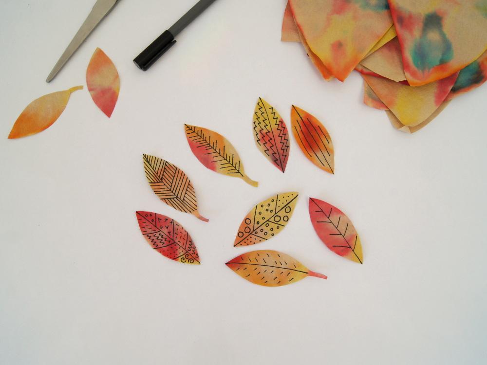 Buntes Herbstbild Ein Experiment Für Kinder Fantasiewerk