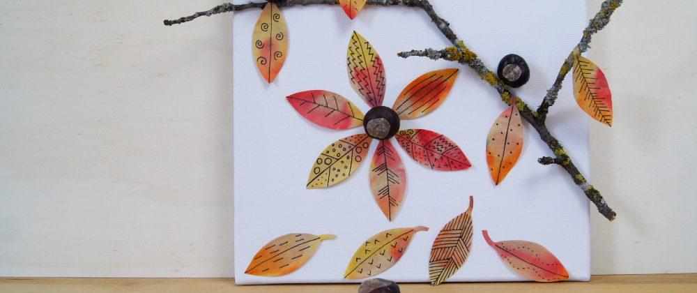 Buntes Herbstbild – Ein Experiment für Kinder