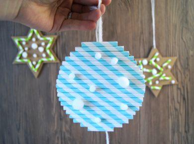 Kinder #basteln Schmuck für den Weihnachtsbaum - Anhänger DIY mit Kleinkindern | von Fantasiewerk