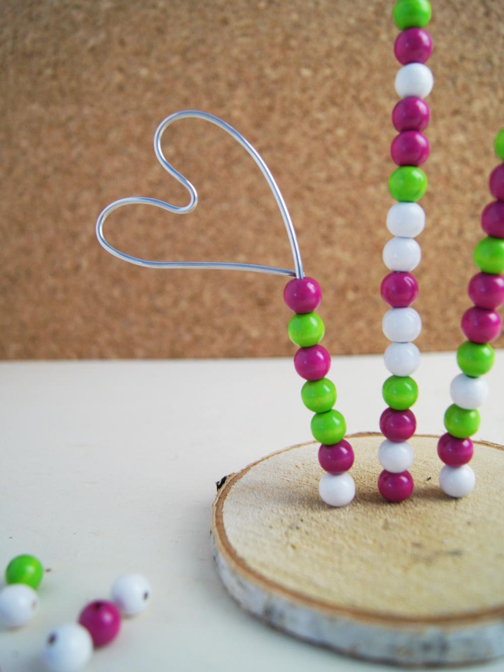 Fotohalter Herz Mit Perlen Kinder Basteln Ein Geschenk Zum