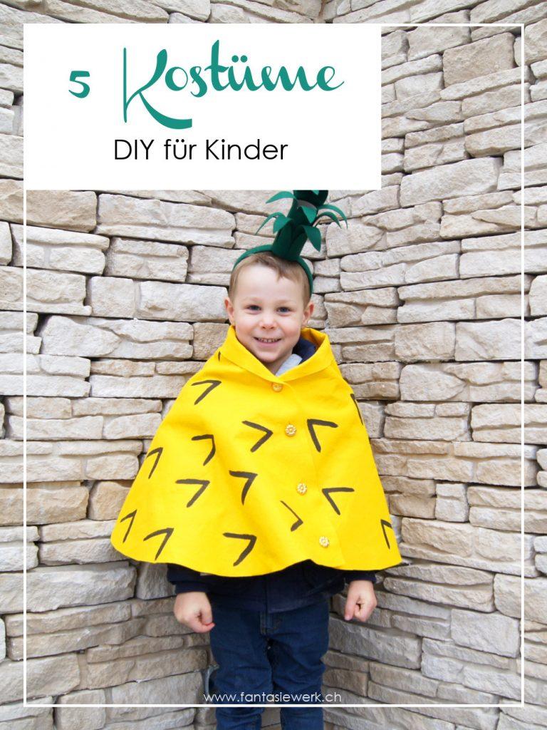 DIY Anleitung für 5 Kostüme für Fasching, Karneval oder Halloween für Kinder zum Basteln | von Fantasiewerk