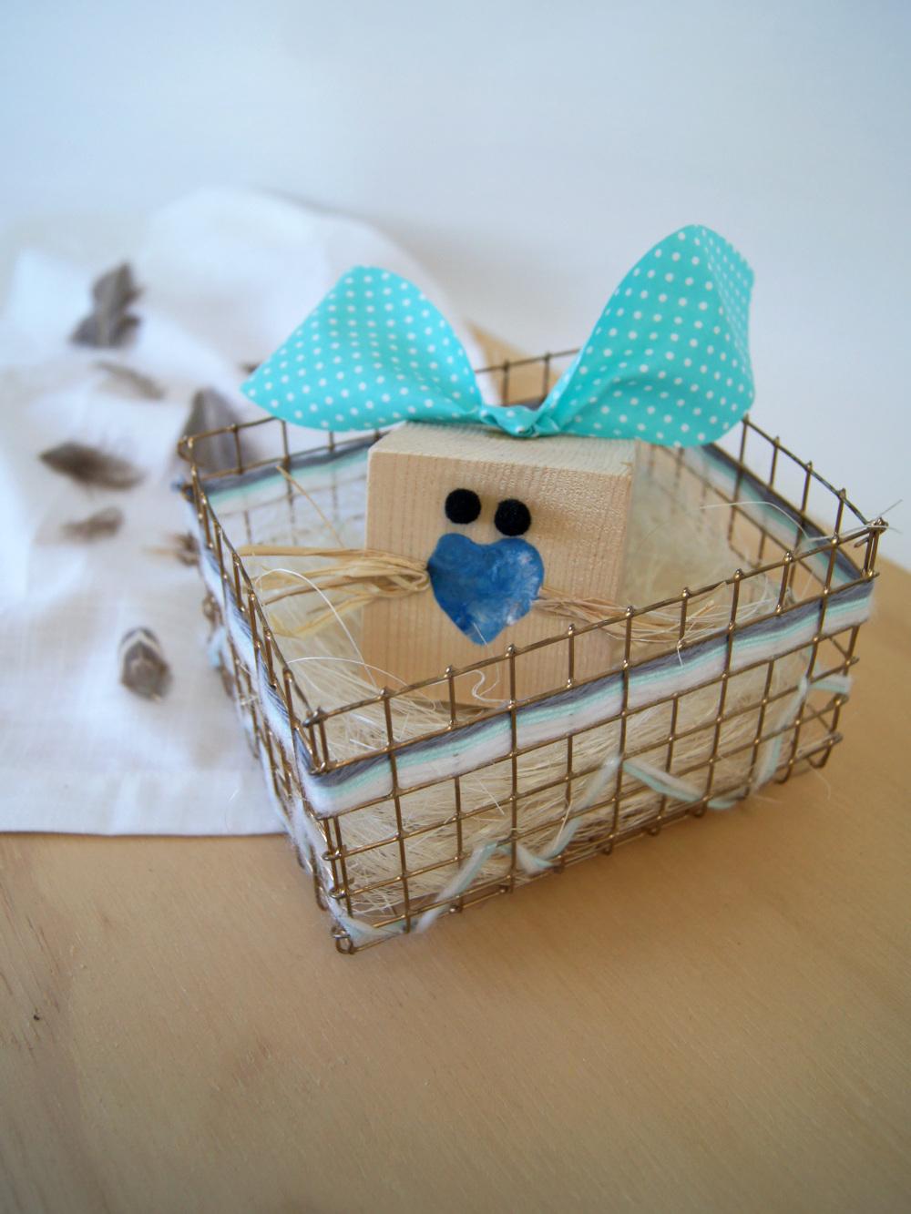 Bastelanleitung für einen Osterkorb aus Draht | #basteln und #DIY für #ostern | von Fantasiewerk