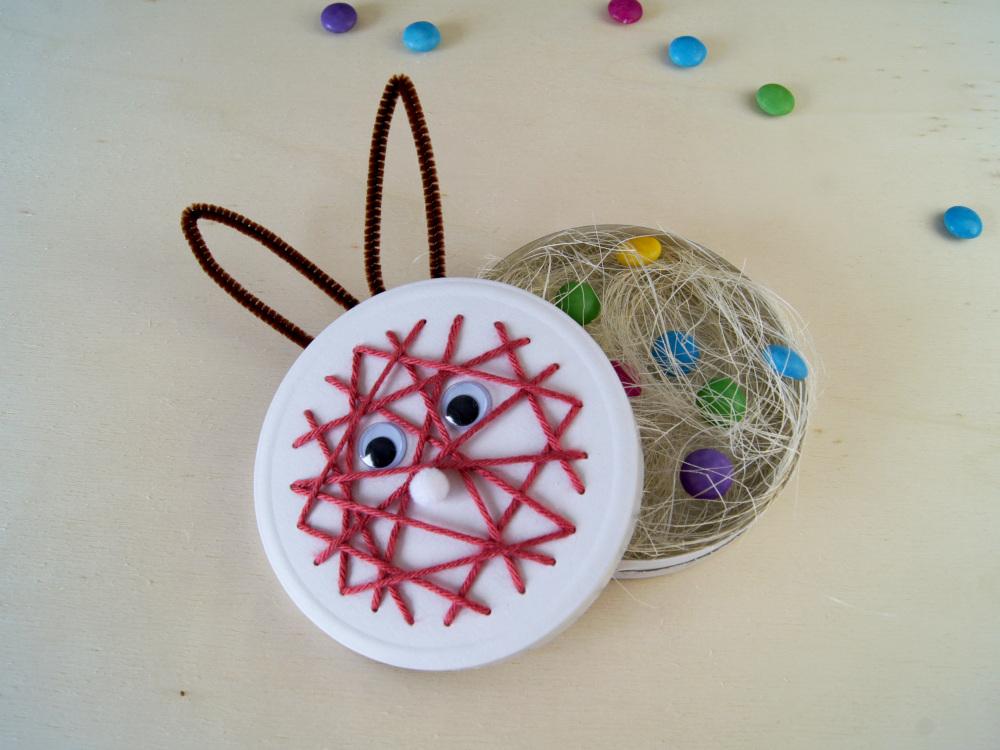 Anleitung zur Hasenbox | ostergeschenk mit Kindern basteln | Osterkorb von Fantasiewerk