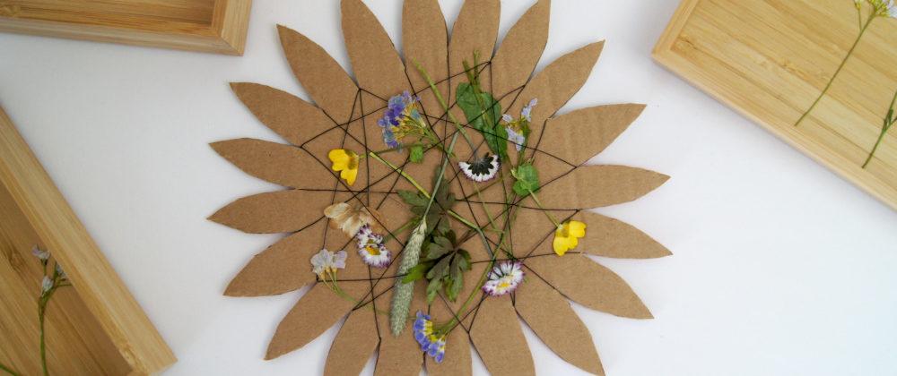 Eine Naturblume mit Kindern gestalten