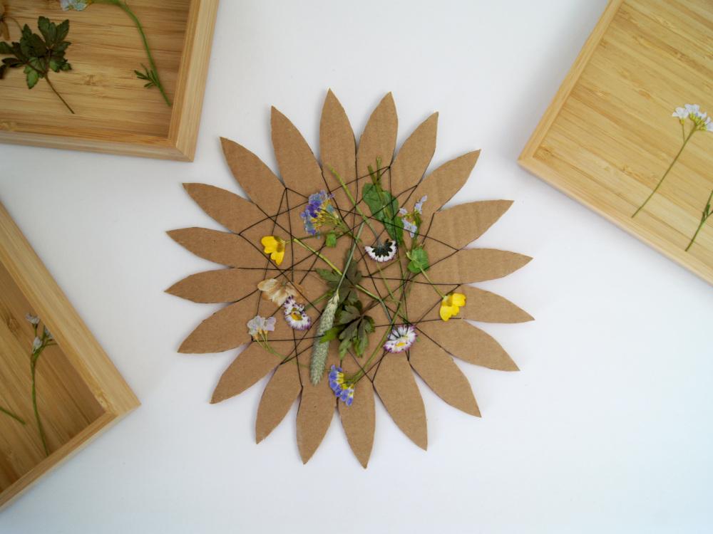 #Bastelideen für Kinder - Blume und Schildkröte mit #Naturmaterialien gestalten. | von Fantasiewerk
