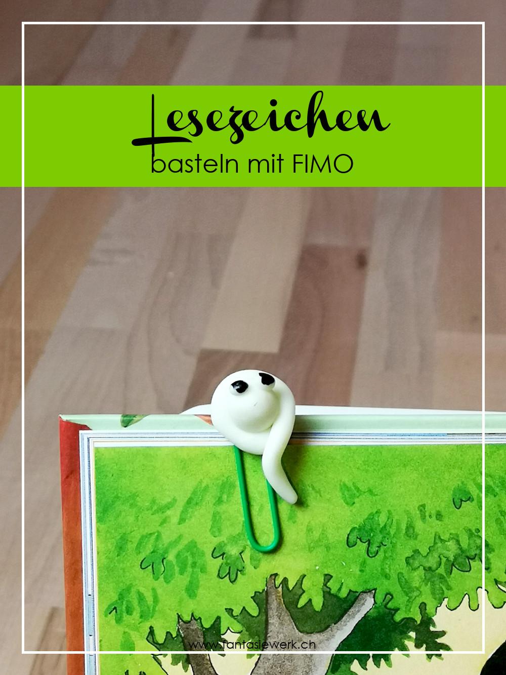 Anleitung: Nachtleuchtendes Lesezeichen aus Fimo mit Kindern basteln | von Fantasiewerk