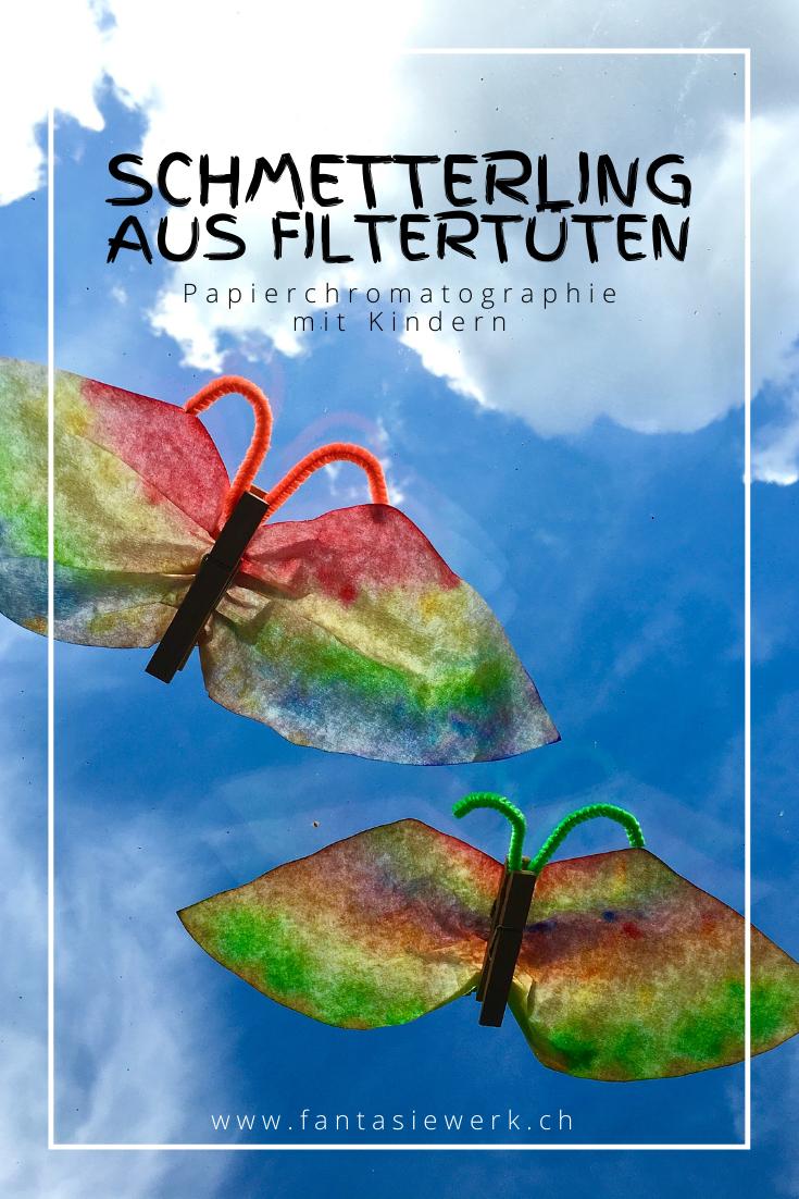 Schmetterlinge #bastelnmitkindern | Anleitung zur Papierchromatografie | #malenmitkindern | von Fantasiewerk