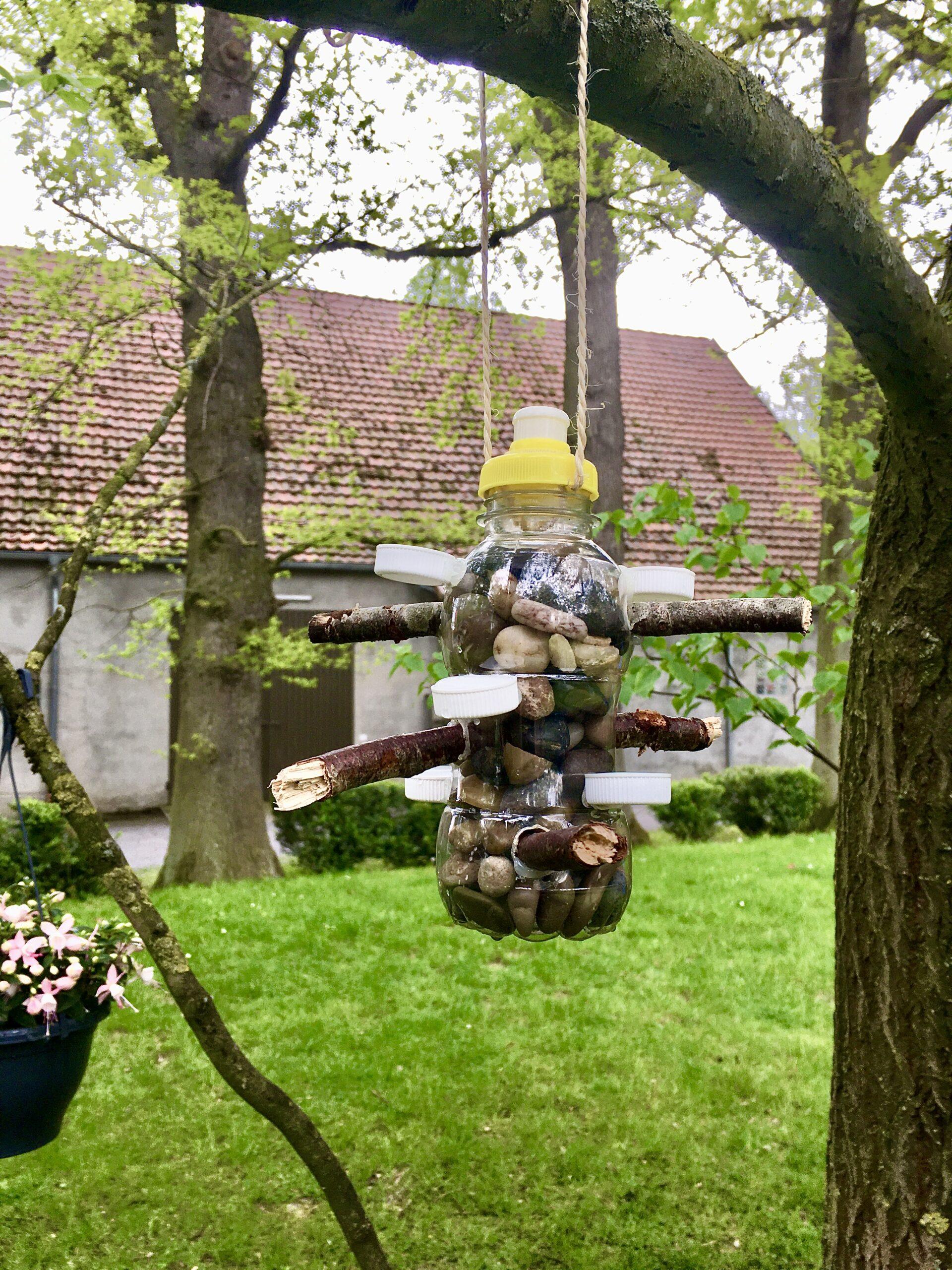 DIY Vogeltränke | Anleitung #upcycling und Naturmaterialien | #bastelnmitkindern | von Fantasiewerk