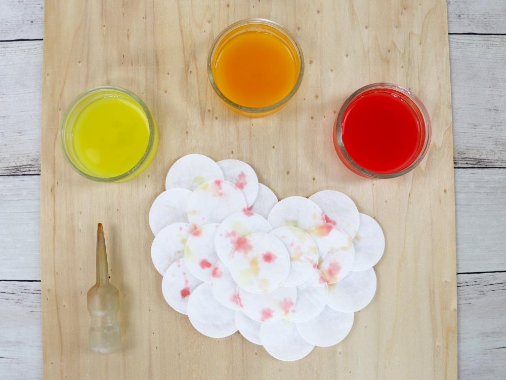 Apfel - Experimentieren mit Farbe und Watte | Basteln mit Kindern | Herbstdeko von Fantasiewerk